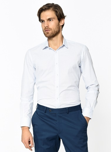 Slim Fit Desenli Gömlek-Daffari
